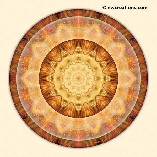 Mandalas from the Heart of Peace, No. 10