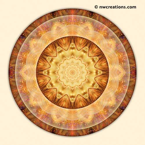 Mandalas from the Heart of Peace, No. 10