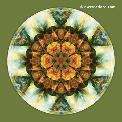 Mandalas from the Heart of Peace, No. 9