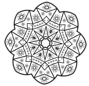 Coloring Mandala 1 by Steven Vrancken