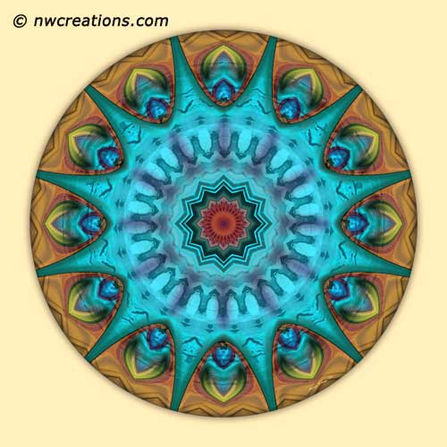 Mandalas from the Heart of Surrender, No. 6