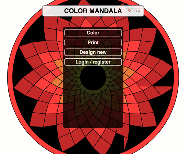 Mandala Monday Color Online With Colormandala Com Artwork By Atmara
