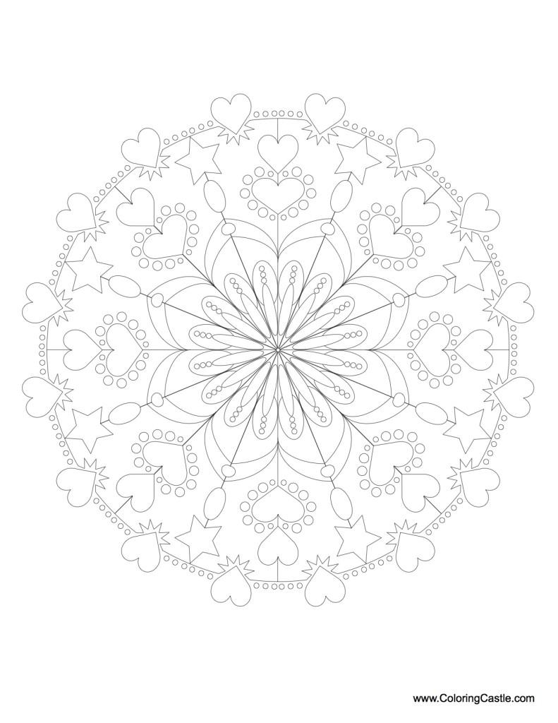 Mandala Monday - Mandala to color from Coloringcastle.com