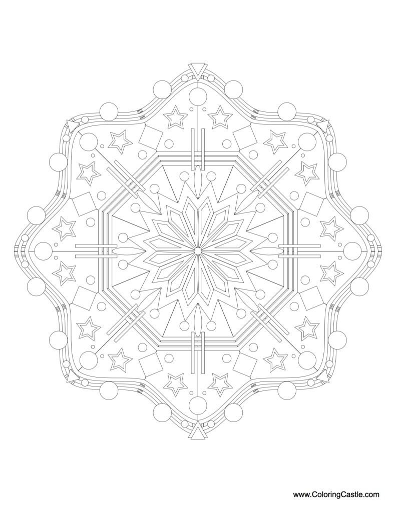 Mandala Monday - Mandala to color from Coloringcastle.com 2